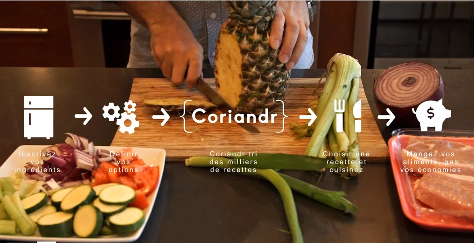 Cooking to end food waste with Coriandr